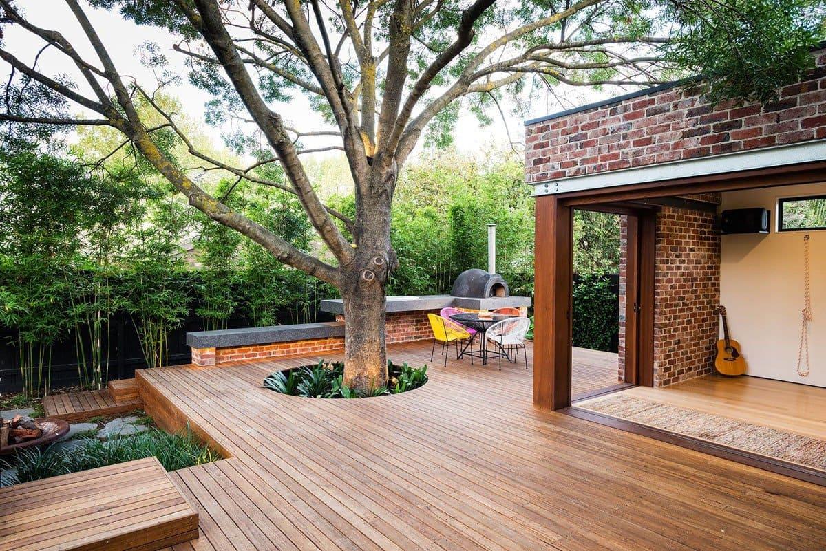 Строительство террас для загородных домов и коттеджей фото