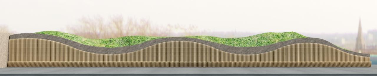 Пергола с параметрической лавкой фото