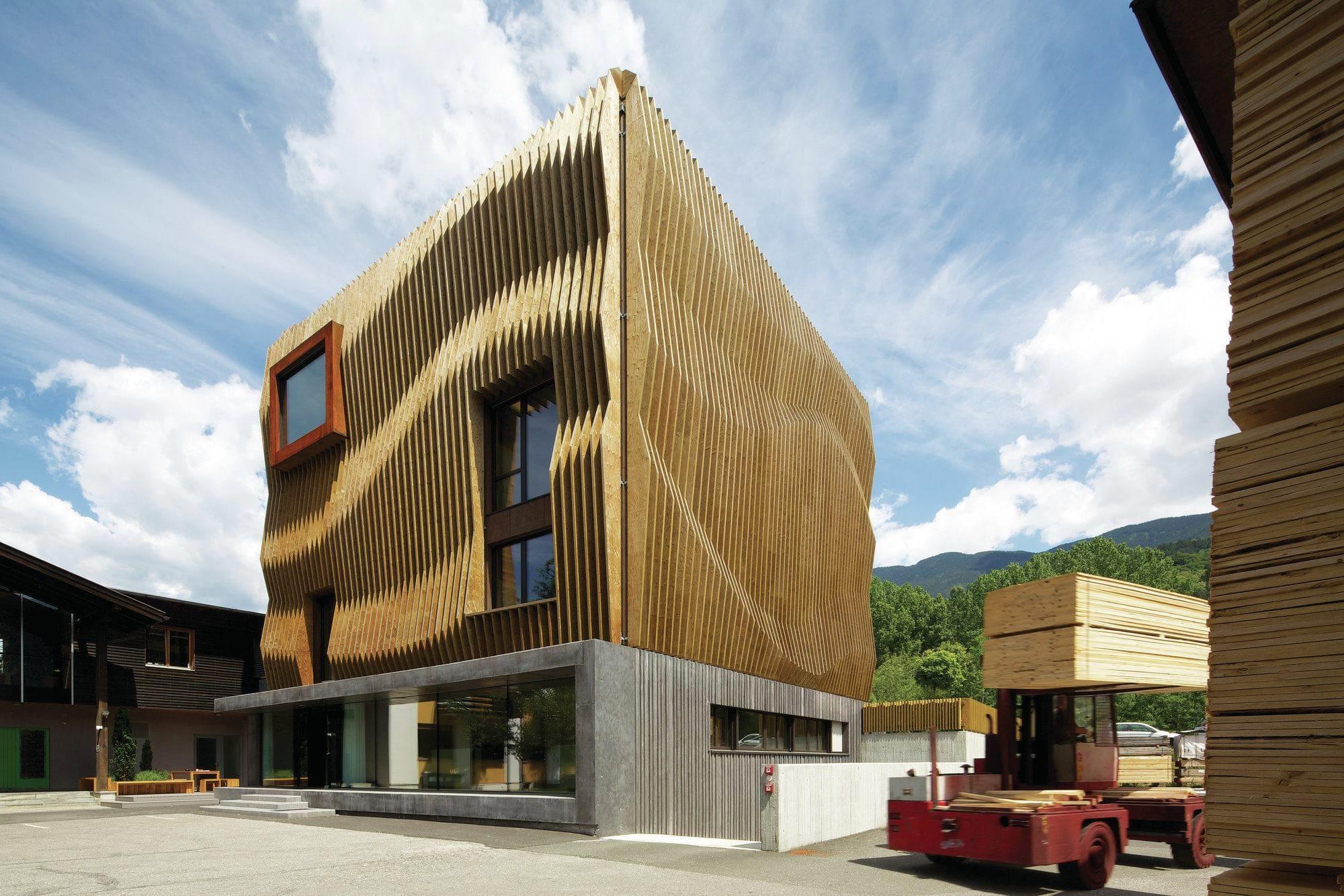 параметрический деревянный фасад фото