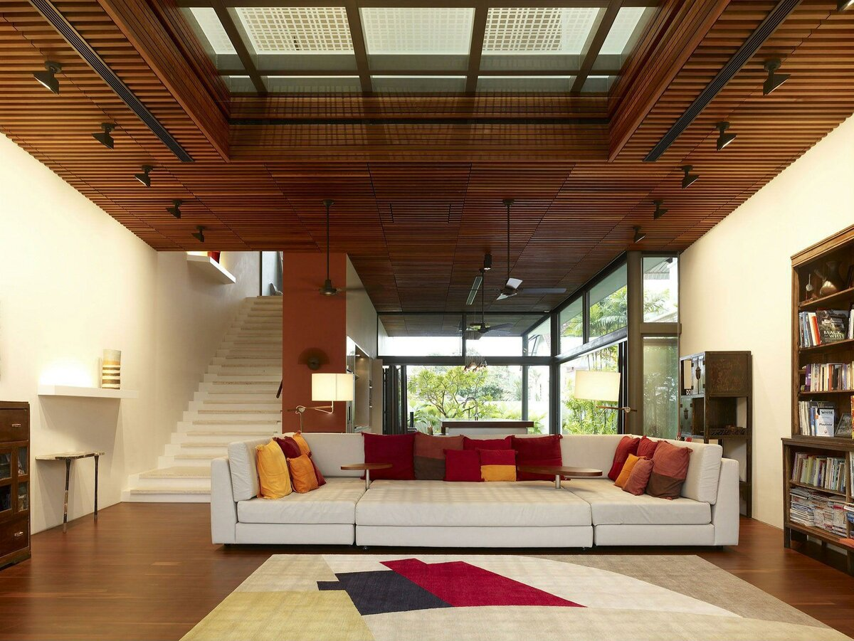 деревянный потолок (потолок из дерева) фото